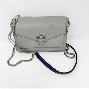 Rebecca Minkoff Grey Zip Jean Crossbody Bag